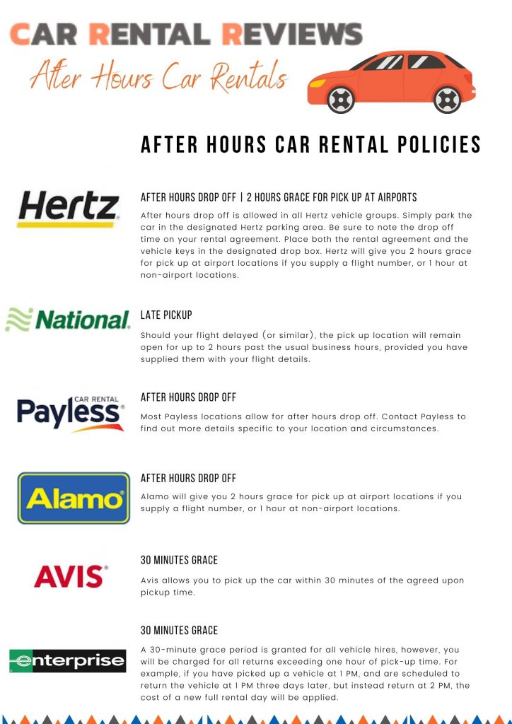 rent a car after hours